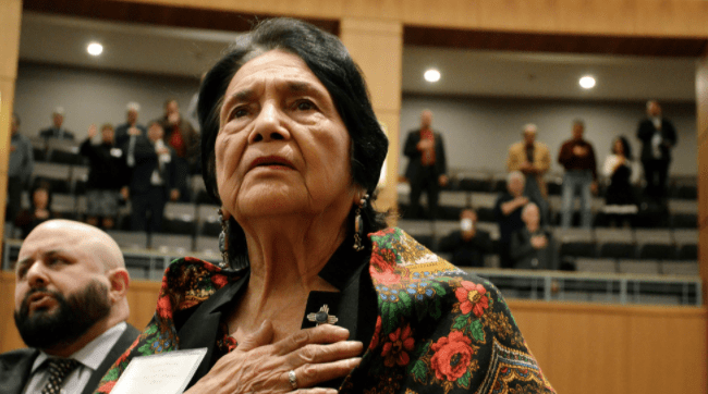 Dolores Huerta endorsed Joe Biden